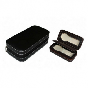 PU Leather Zipper Box